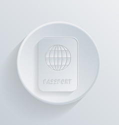 Circle icon with a shadow international passport vector