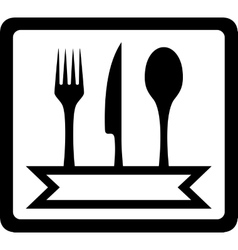 Icon with utensils for restaurant foods vector