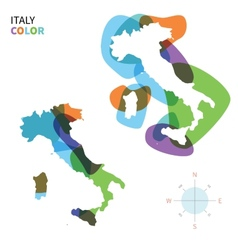 Abstract color map of italy with vector