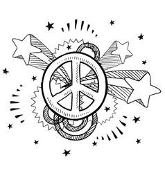 Doodle pop peace vector