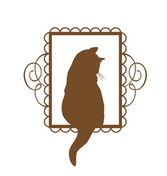 Vintage cat vector