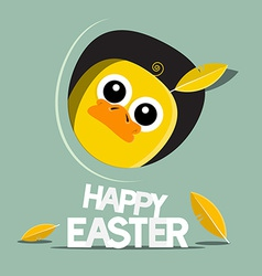 Happy easter funny chicken vector