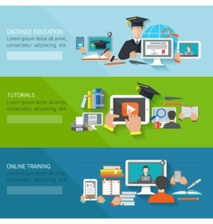 Online education banner vector