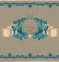 Floral cartouche vector