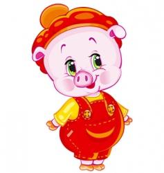 Pumpkin patch pig vector