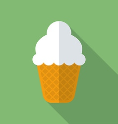 Ice cream icon modern flat style with a long vector