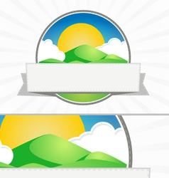 Clean mountain seal vector