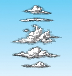 Retro clouds vector