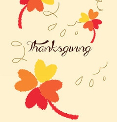 Thanks giving vector