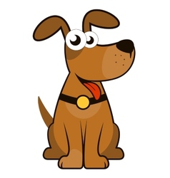 Isolated cartoon dog vector