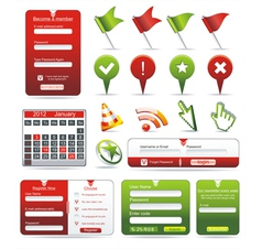 Set of web forms vector