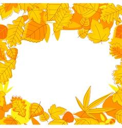 Autumnal seasonal frame vector
