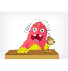 Funny monster judge vector