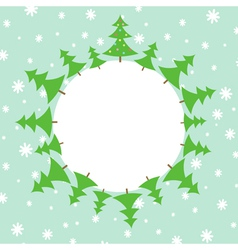 Christmas tree in the snow vector