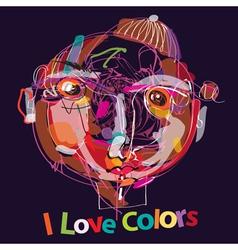 I love colors vector