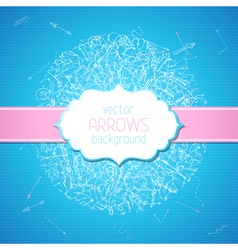 Sketchy arrows background vector