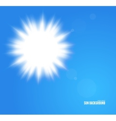 Sun with lens flare background vector