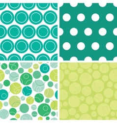 Abstract green circles set of four marching vector