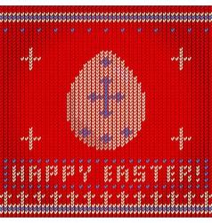 Knitted egg vector