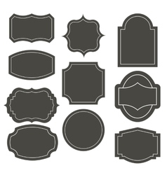 Big elegant frame set vector
