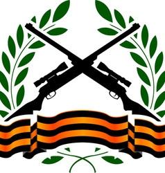 Georgievsy ribbon and sniper rifles vector