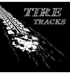 Tire tracks vector