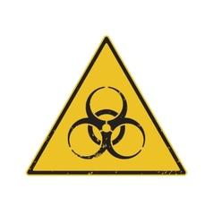 Biohazard warning vector