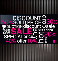 Sale discount advertisement vector