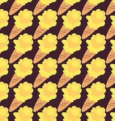 Ice cream seamless pattern sweet background vector