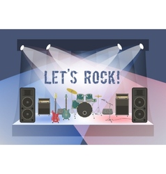 Rock concert stage vector