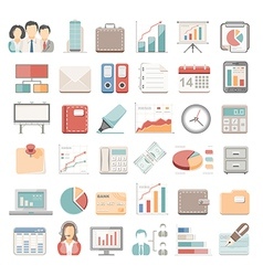 Flat icons business vector