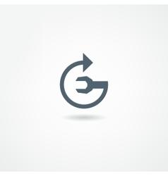 Mechanic icon vector