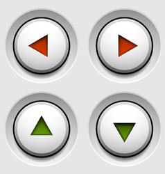 Arrow white circle buttons vector