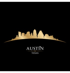Austin texas city skyline silhouette vector
