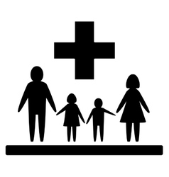 Isolated family medical symbol vector