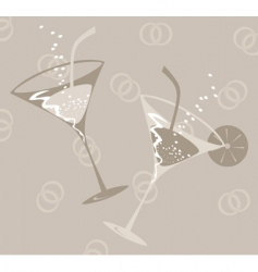 Wedding glass vector