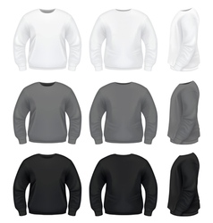 Realistic men sweater vector