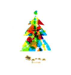 Abstract colorful christmas tree made from vector