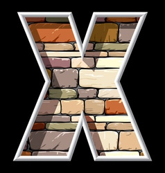 Stone letter x vector