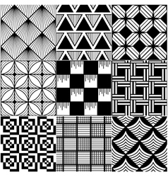 Monochrome abstract seamless pattern vector