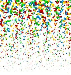 Confetti background vector