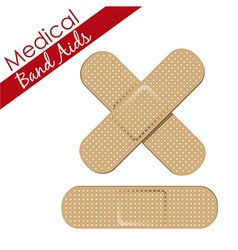 Band aids collection skin color medical set vector