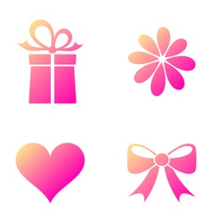 Happy valentine icons vector