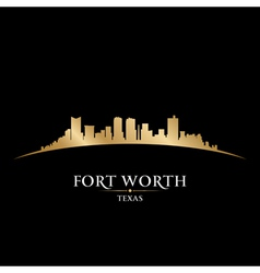 Fort worth texas city skyline silhouette vector
