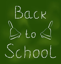 Back to school background with text and bells vector