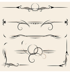 Set design elements and page decoration vector