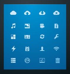Universal glyphs 10 cloud services vector
