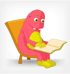 Funny monster reading vector