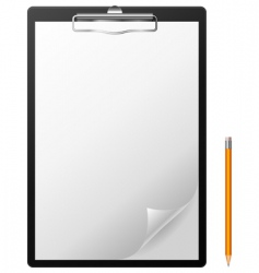 Clipboard and pencil vector