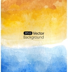 Background of watercolor seascape vector